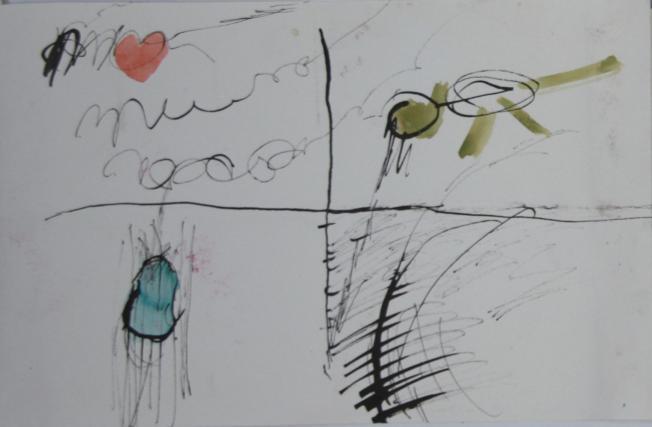 tekening 2009 Frankrijk boekje 2